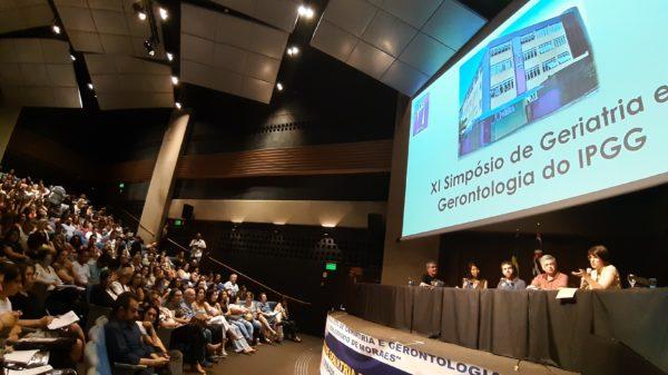 Ary Filler, Lilian Shibata, Mórris Litvak, Rogério Pimenta e Andrea Lopes no Simpósio do IPGG