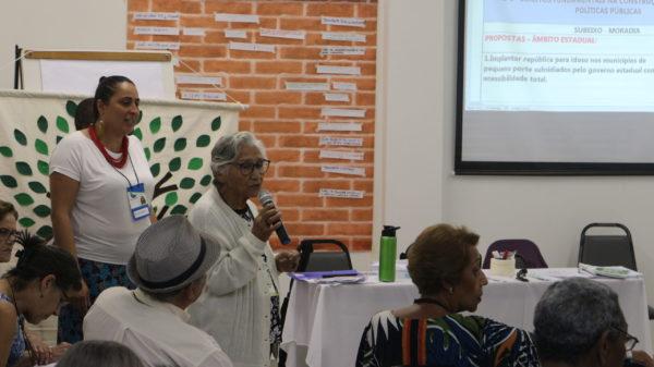 Olga Quiroga moradia Conferência Estadual do Idoso