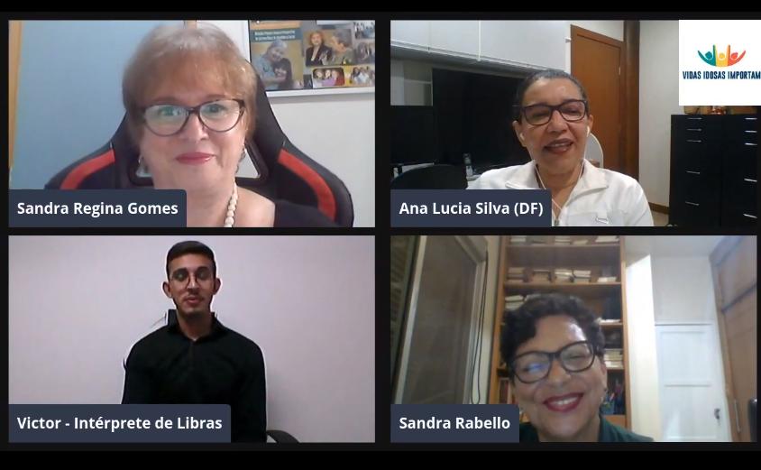 Live Eu Sou SUS - Sandra Gomes, Ana Lucia, Victor - intérprete de Libras e Sandra Rabello
