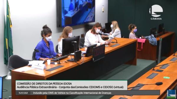 Audiência pública - inclusão velhice no CID-11